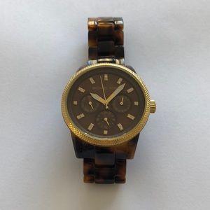 Michael Kors Tortoise & Gold Watch